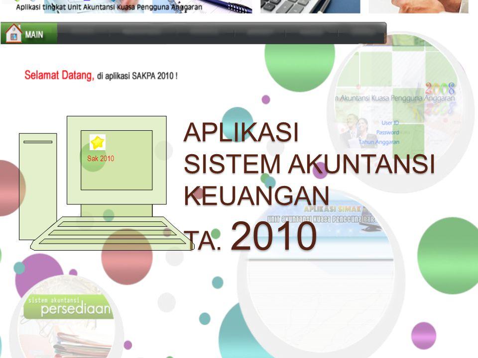 APLIKASI SISTEM AKUNTANSI KEUANGAN TA. 2010