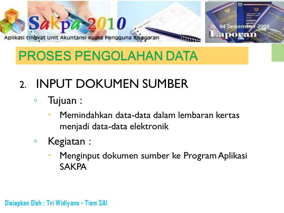 PROSES PENGOLAHAN DATA