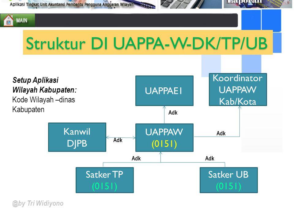 Struktur DI UAPPA-W-DK/TP/UB