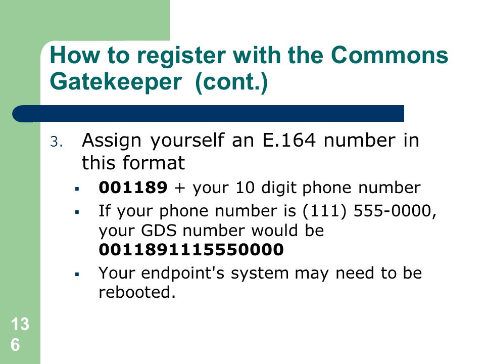 How to register with the Commons Gatekeeper (cont.)