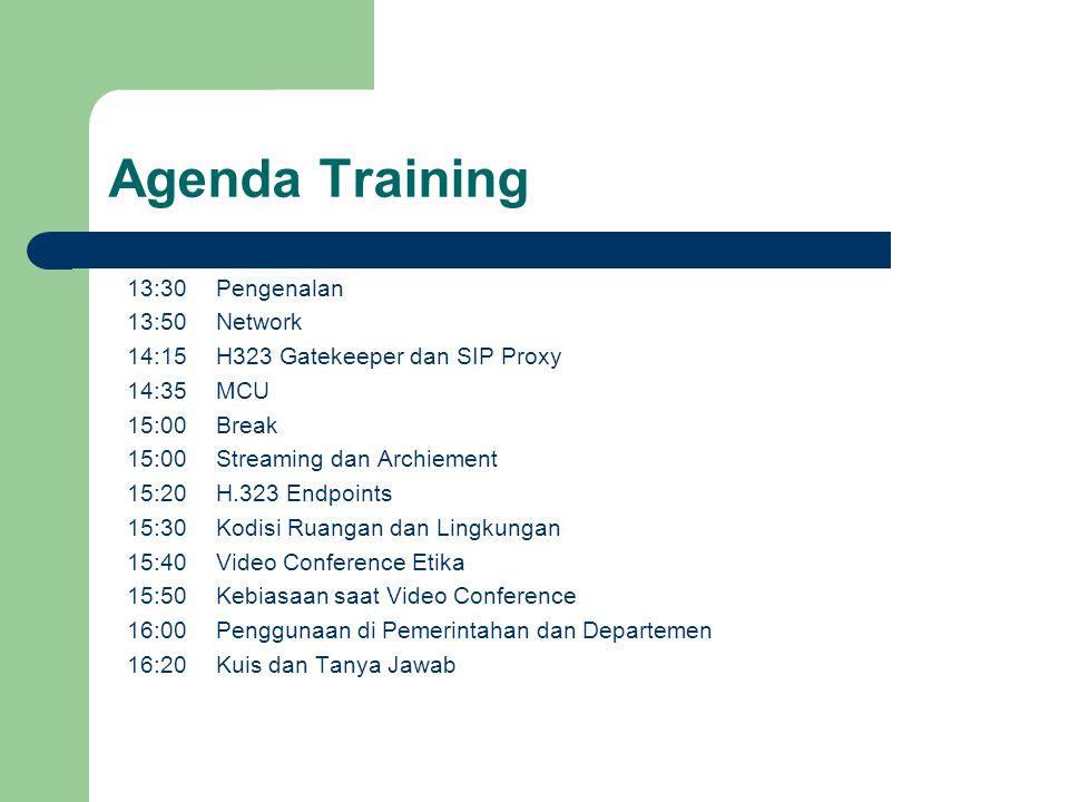 Agenda Training 13:30 13:50 14:15 14:35 15:00 15:20 15:30 15:40 15:50 16:00 16:20