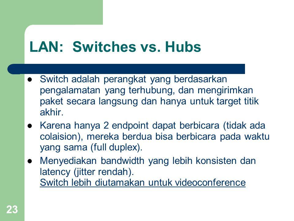 LAN: Switches vs. Hubs