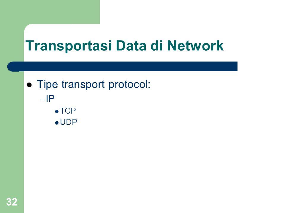 Transportasi Data di Network