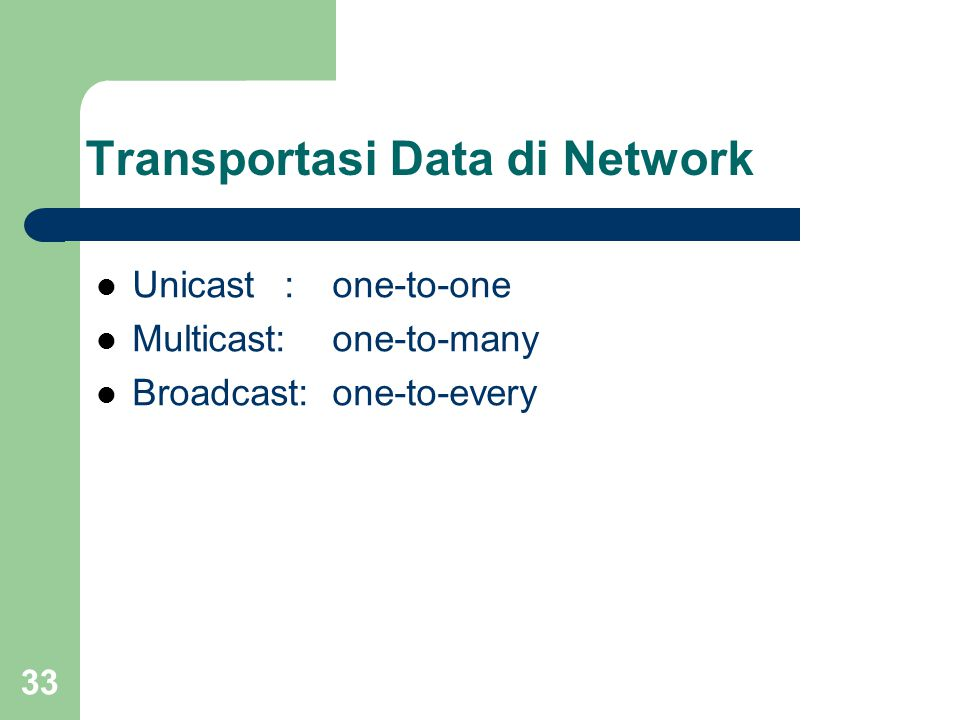 Transportasi Data di Network