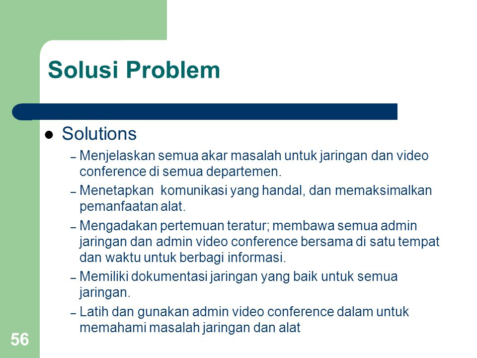 Solusi Problem Solutions