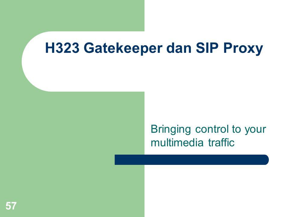 H323 Gatekeeper dan SIP Proxy