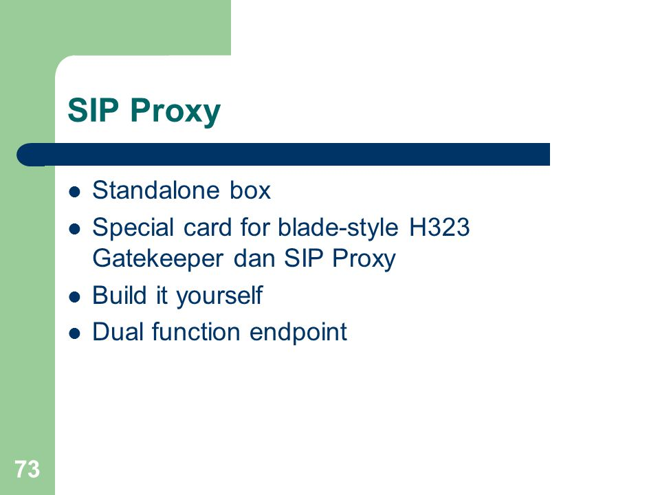 SIP Proxy Standalone box