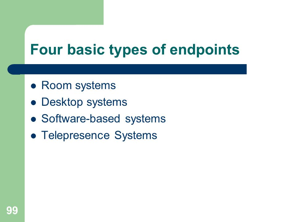 Four basic types of endpoints