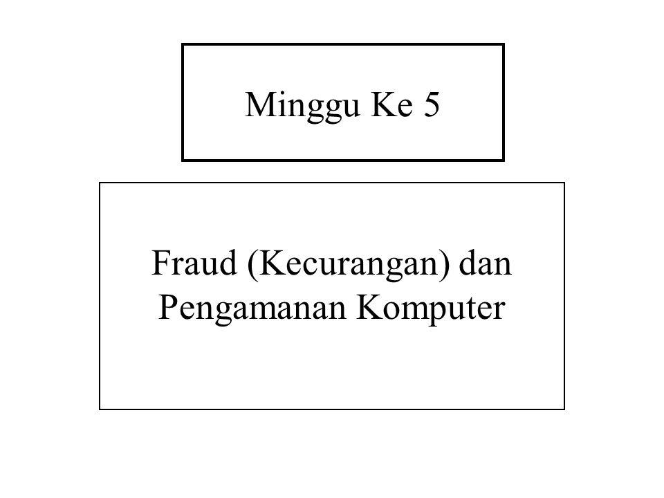 Fraud (Kecurangan) dan Pengamanan Komputer