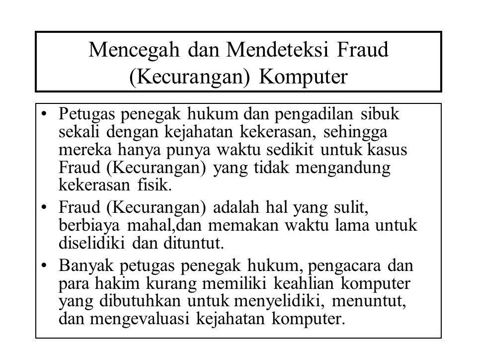 Mencegah dan Mendeteksi Fraud (Kecurangan) Komputer