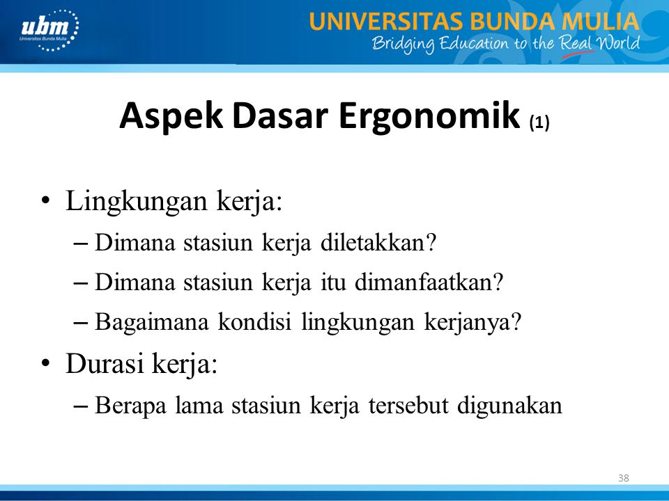 Aspek Dasar Ergonomik (1)