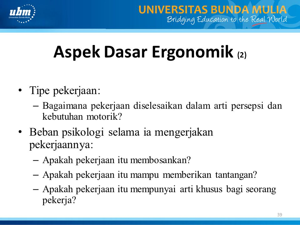 Aspek Dasar Ergonomik (2)