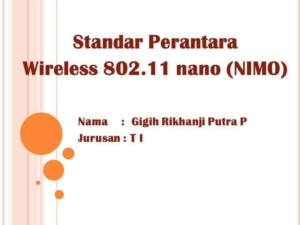 Standar Perantara Wireless 802.11 nano (NIMO)