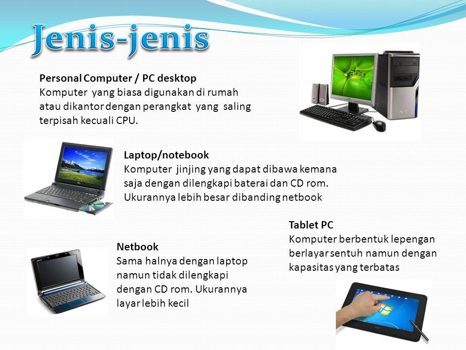 Jenis-jenis Personal Computer / PC desktop