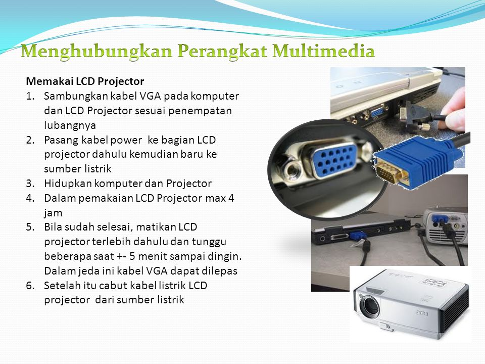Menghubungkan Perangkat Multimedia