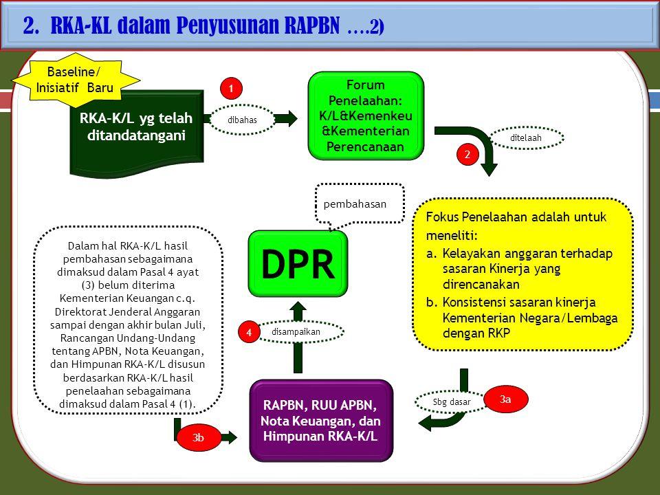 DPR 2. RKA-KL dalam Penyusunan RAPBN ….2)