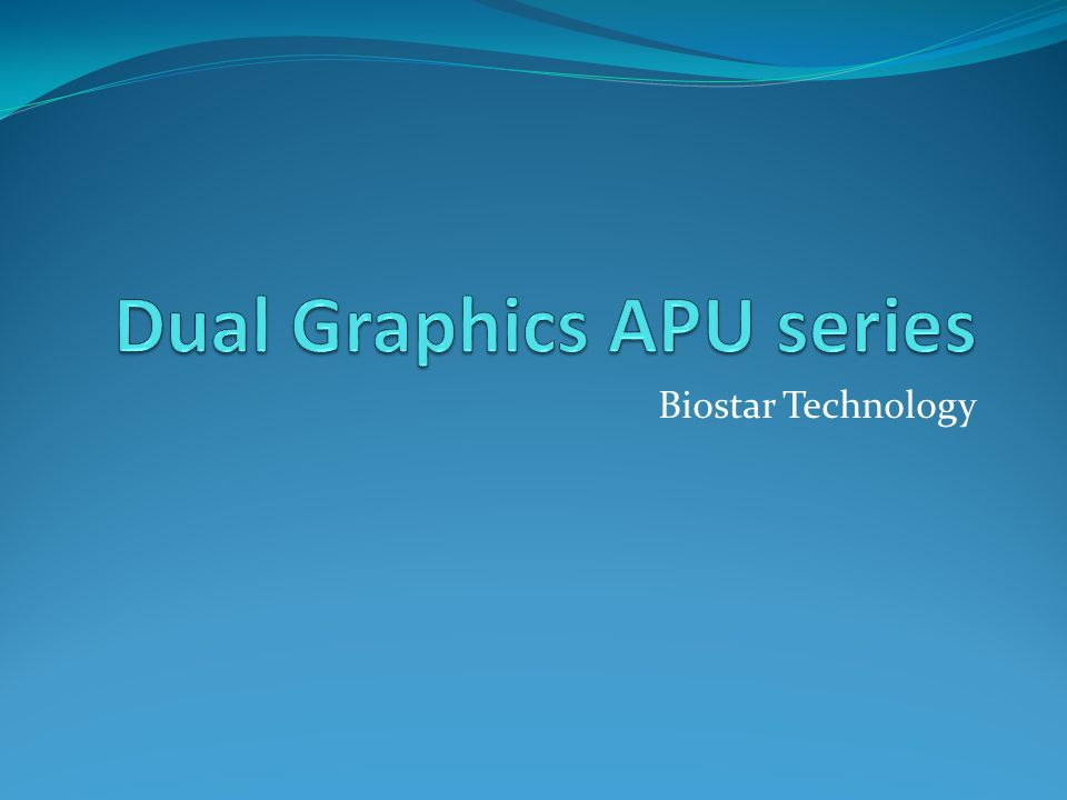 Dual Graphics APU series
