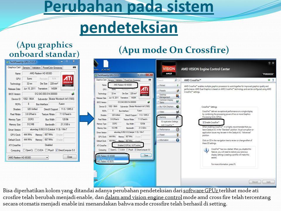 Perubahan pada sistem pendeteksian