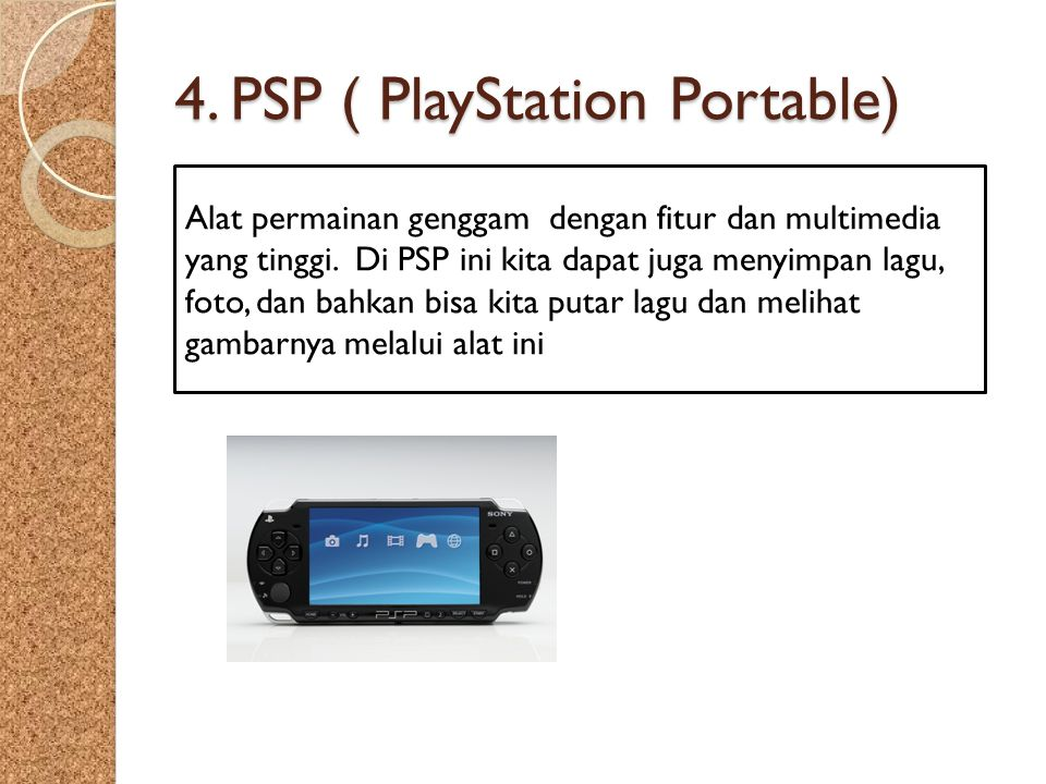 4. PSP ( PlayStation Portable)
