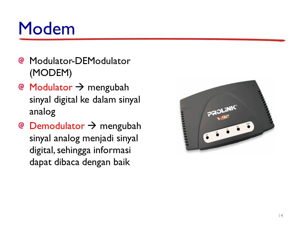 Modem Modulator-DEModulator (MODEM)
