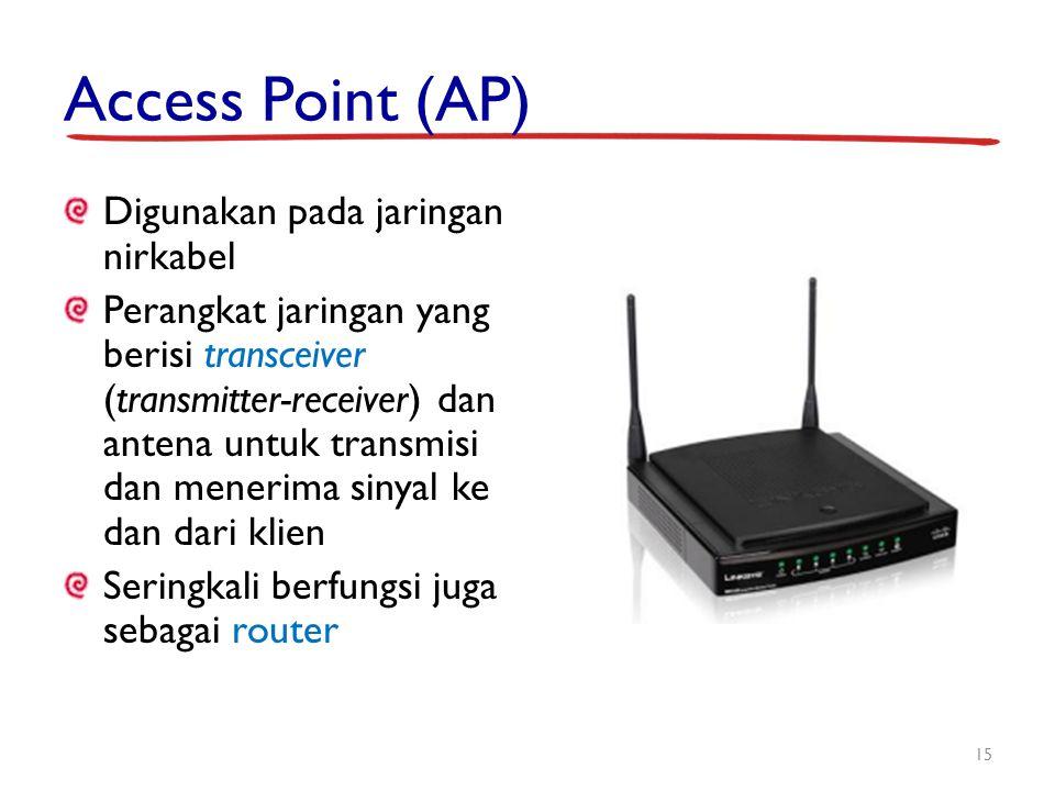 Access Point (AP) Digunakan pada jaringan nirkabel