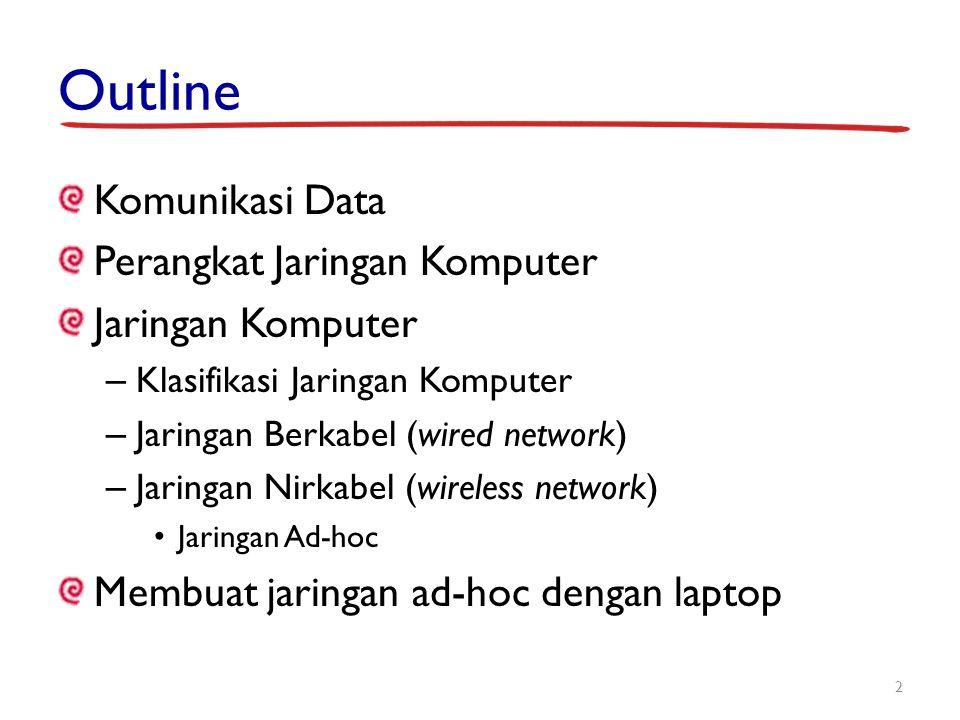 Outline Komunikasi Data Perangkat Jaringan Komputer Jaringan Komputer