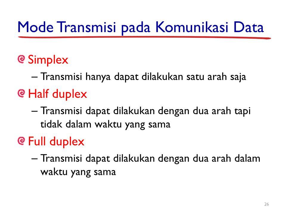 Mode Transmisi pada Komunikasi Data