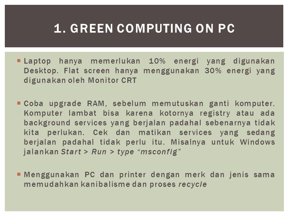 1. Green Computing on PC