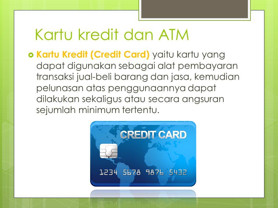 Kartu kredit dan ATM