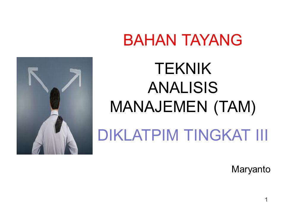 ANALISIS MANAJEMEN (TAM)