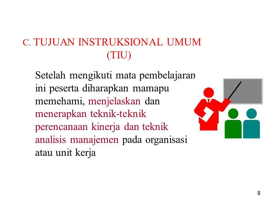 C. TUJUAN INSTRUKSIONAL UMUM (TIU)
