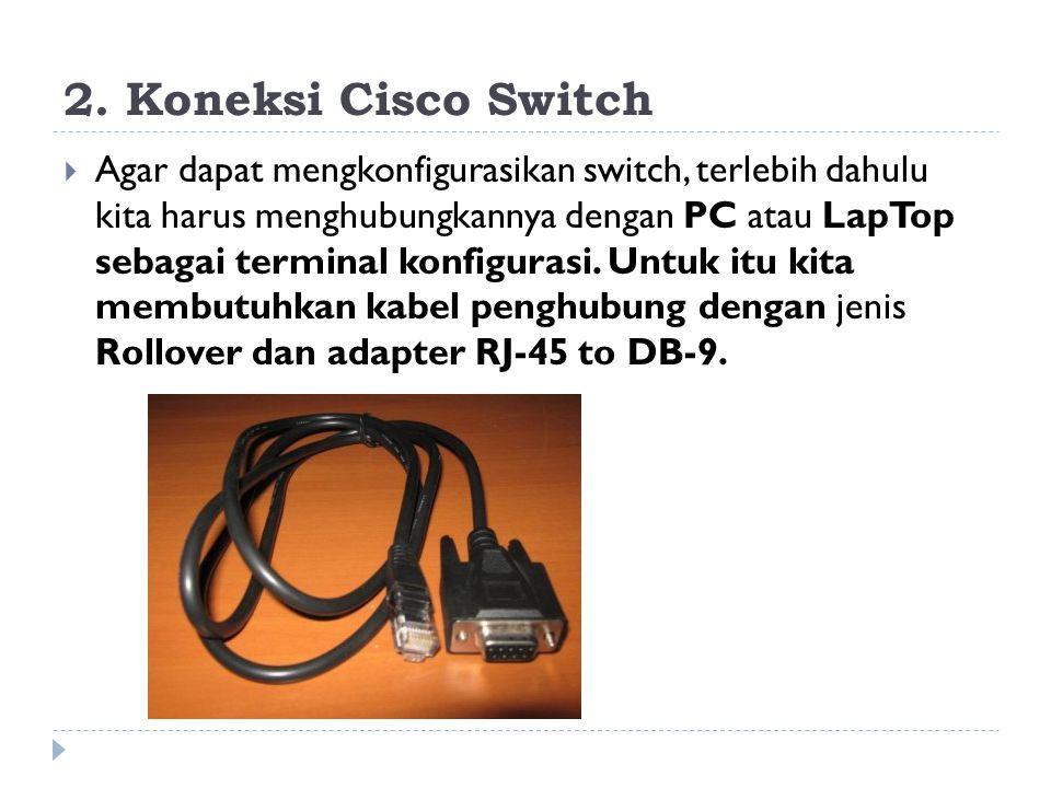2. Koneksi Cisco Switch