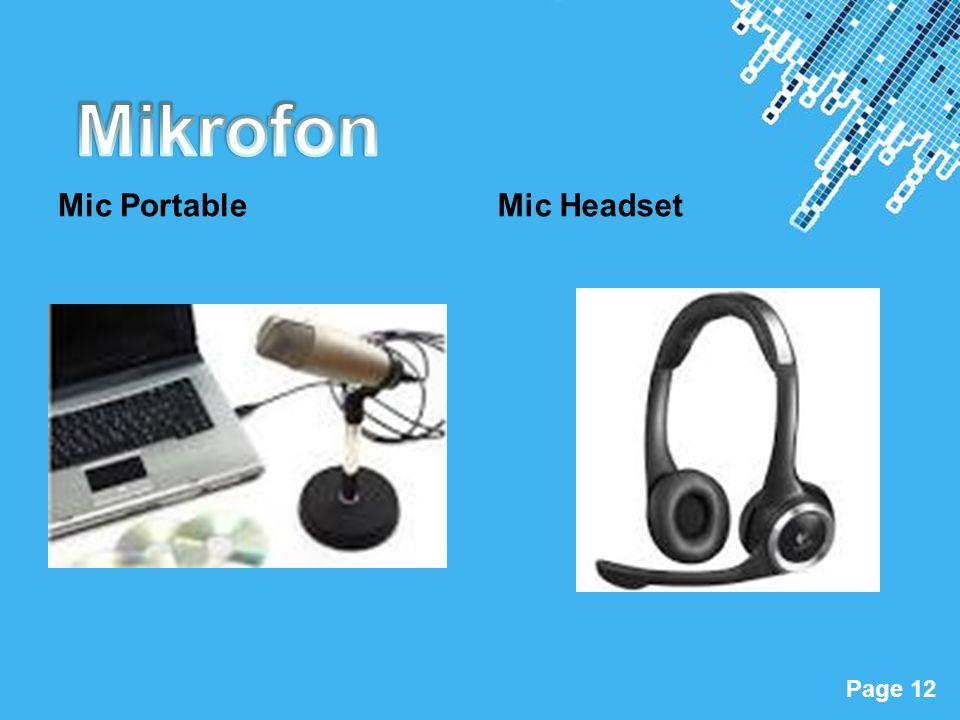 Mikrofon Mic Portable Mic Headset