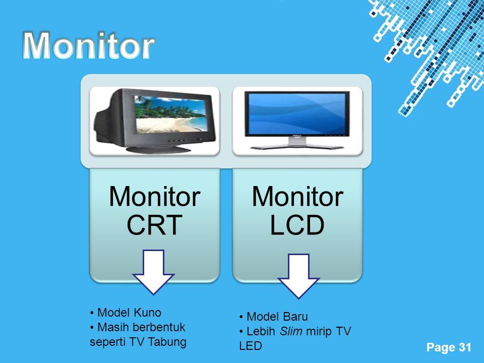 Monitor Model Kuno Model Baru Masih berbentuk seperti TV Tabung