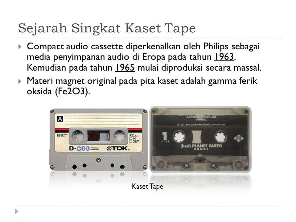 Sejarah Singkat Kaset Tape