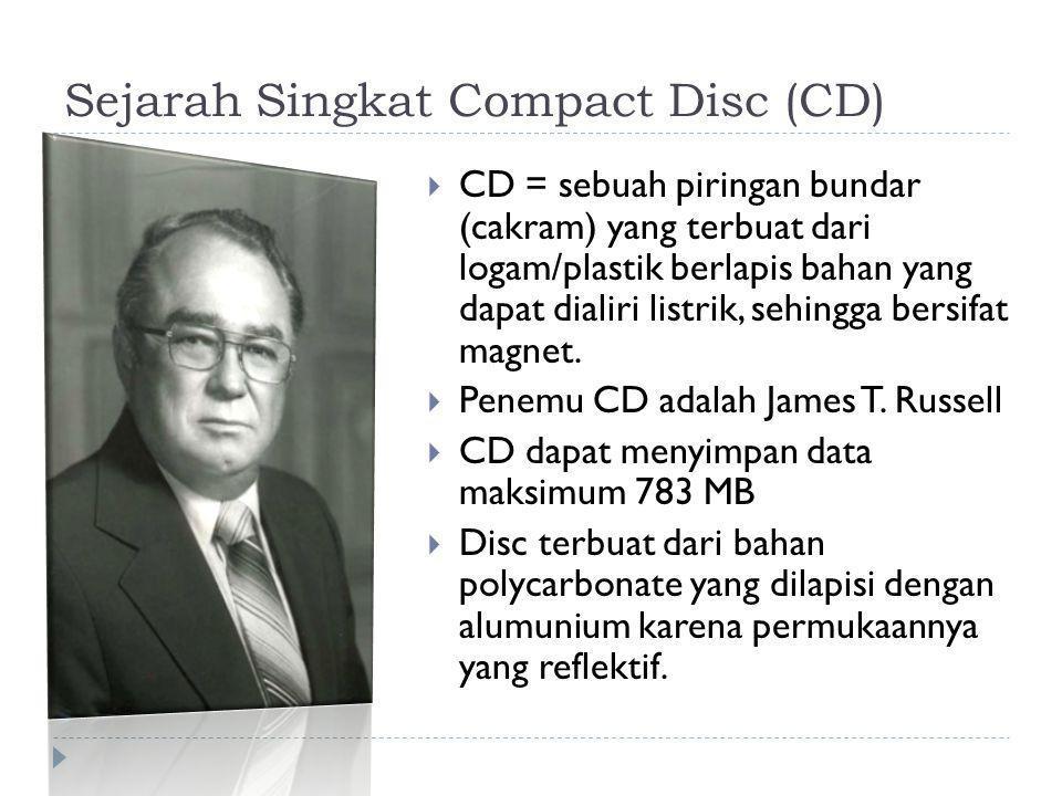 Sejarah Singkat Compact Disc (CD)