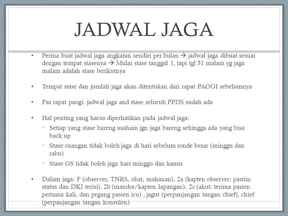 JADWAL JAGA