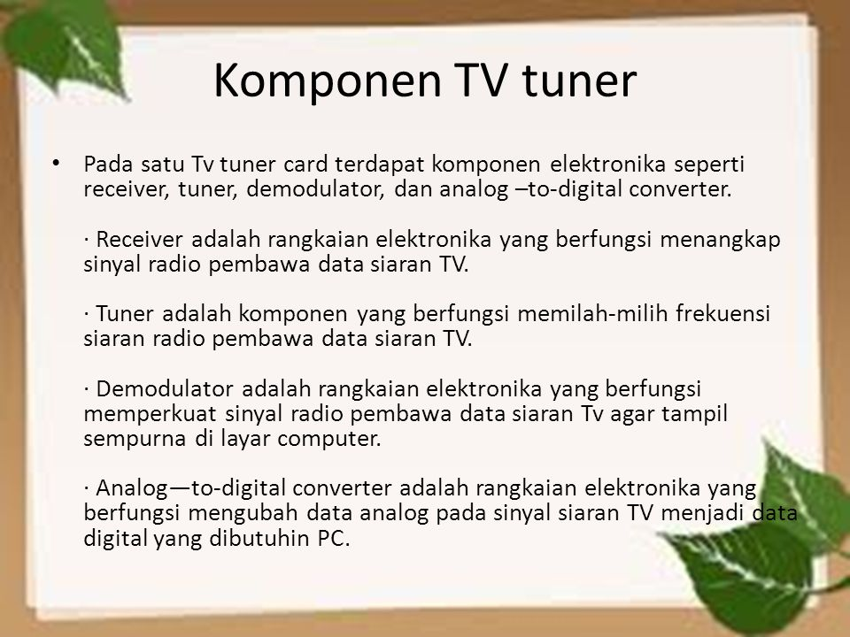 Komponen TV tuner