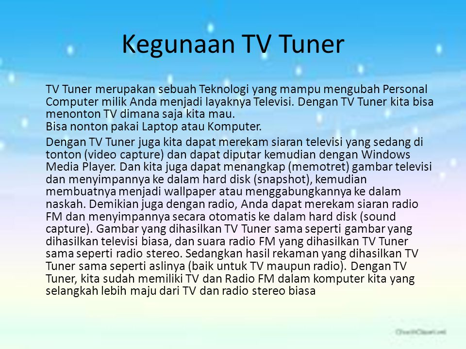 Kegunaan TV Tuner
