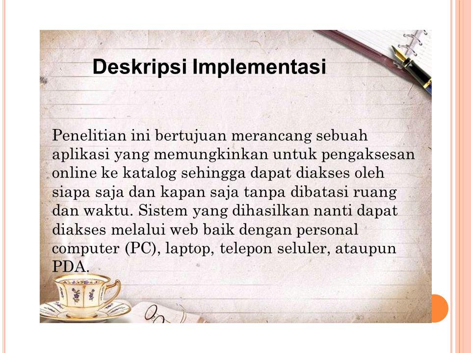 Deskripsi Implementasi