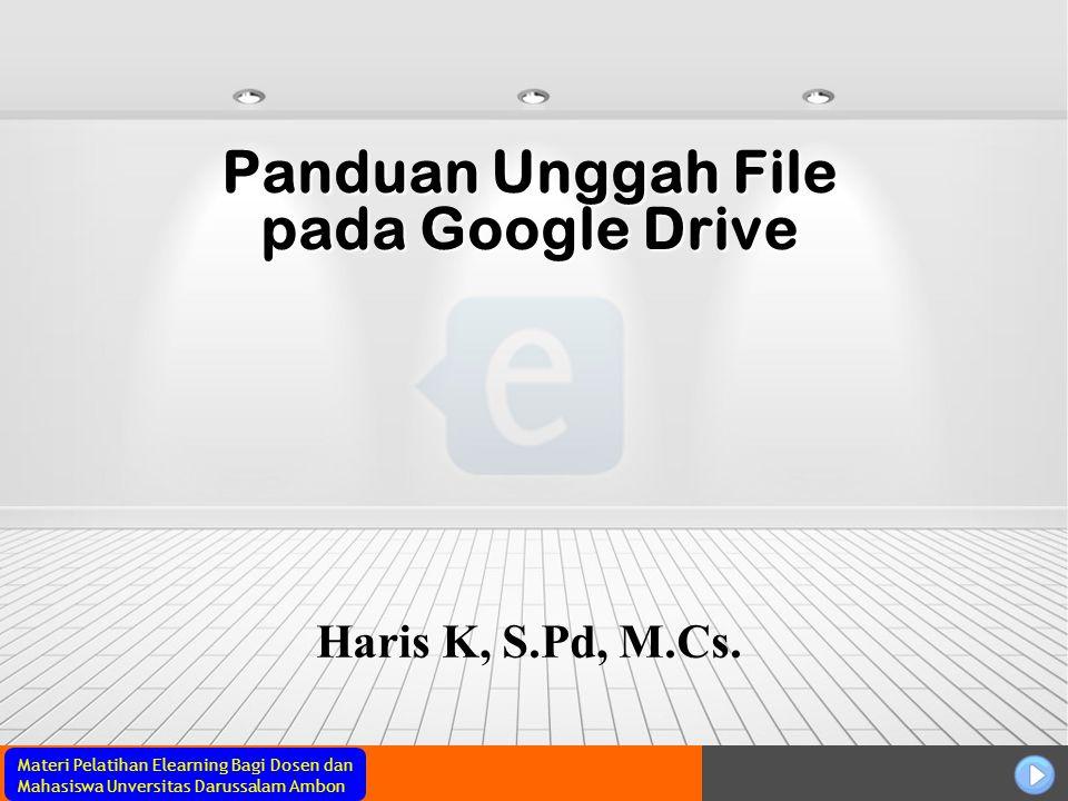 Panduan Unggah File pada Google Drive
