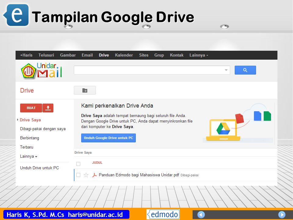Tampilan Google Drive