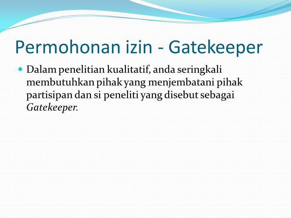 Permohonan izin - Gatekeeper