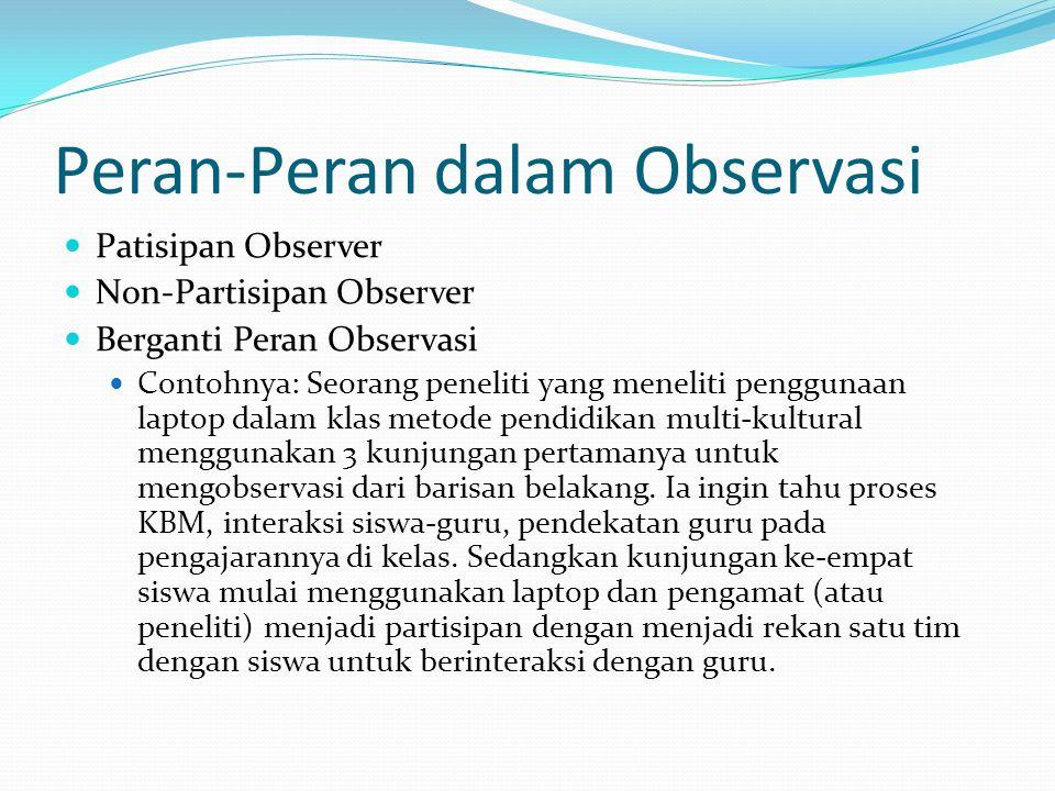 Peran-Peran dalam Observasi