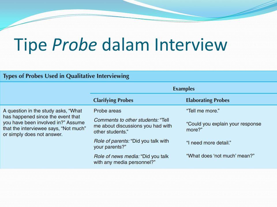 Tipe Probe dalam Interview