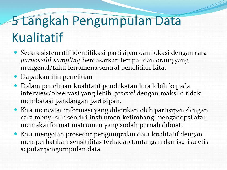 5 Langkah Pengumpulan Data Kualitatif