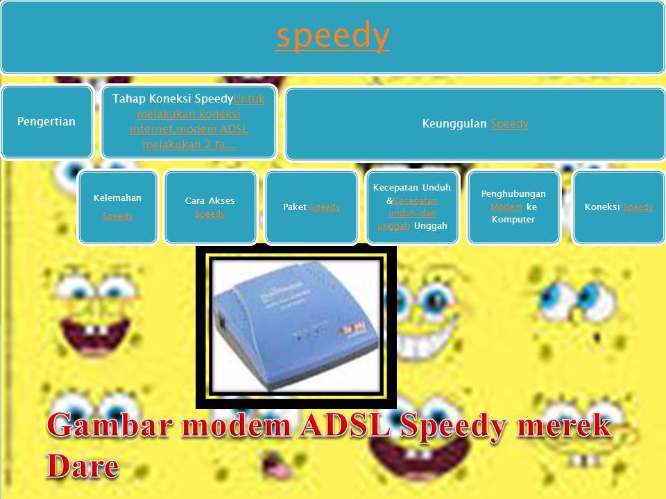 Gambar modem ADSL Speedy merek Dare