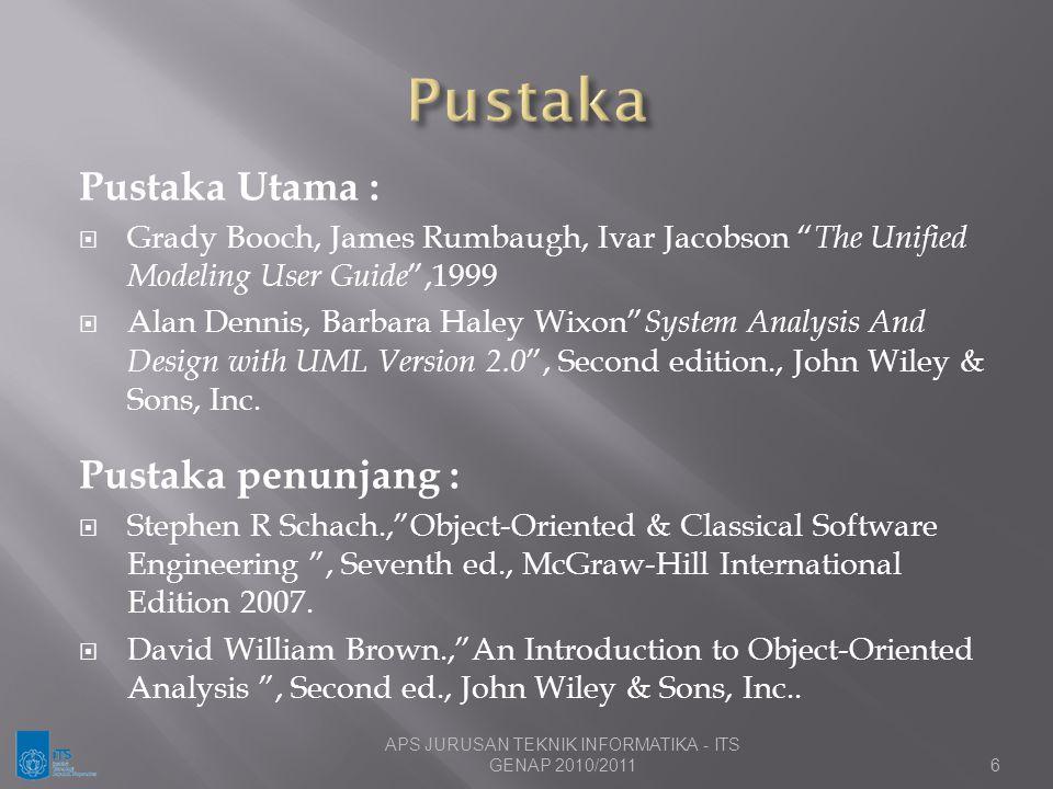 APS JURUSAN TEKNIK INFORMATIKA - ITS GENAP 2010/2011