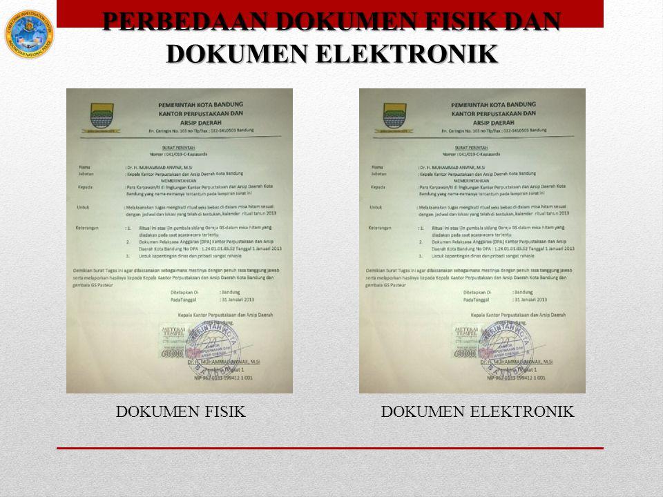 PERBEDAAN DOKUMEN FISIK DAN DOKUMEN ELEKTRONIK