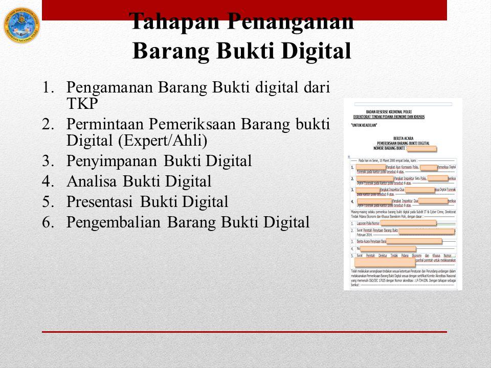 Tahapan Penanganan Barang Bukti Digital